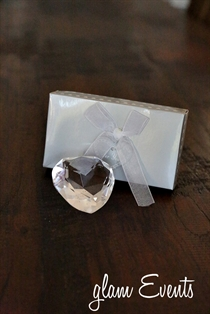 Picture of Crystal Heart Paper Weight