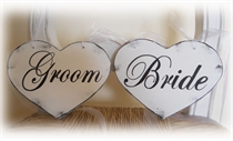 Picture of Bride and Groom Chair Signs
