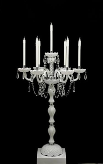 Picture of White Glass Candelabra