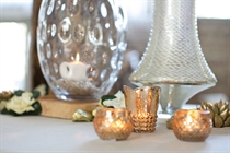 Picture of Gold and glass votive vases