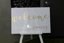 Picture of White Acrylic Sign